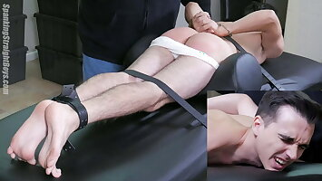 Straight Boy Handcuffed and Spanked