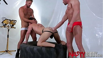 NASTYDADDY Devin Franco Fisted In Threesome By Wesley Woods