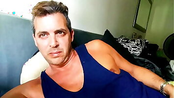 Tricked HOT DILF Male Celebrity Cory Bernstein to MASTURBATE, Finger his Big Ass,  and EAT his CUM for me on Instagram @CountCory